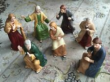 Seven Collectible Limited Edition Signed Hawthorn Village Last Supper Sculptures