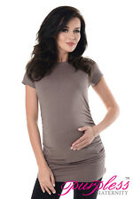 Purpless Maternity 100 Cotton Pregnancy Tee Top Tshirt 5025 Cappuccino UK 18