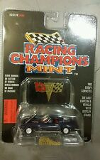 Racing Champions 1963 Black Chevy Corvette Issue #46 w/ Emblem & Stand, NEW MINT