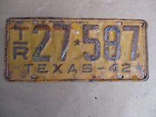 1942 TEXAS TRAILER LICENSE PLATE ORIGINAL FORD CHEVY GMC 42 HOT RAT STREET ROD
