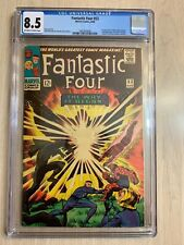 FANTASTIC FOUR 53 CGC 8.5 VF+ O/W-WHITE PAGES.  2ND BLACK PANTHER & ORIGIN