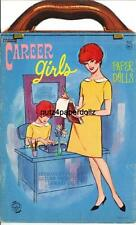 VINTGE 1960S CAREER GIRLS PAPER DOLL ~PRETTY HD LASER REPRODUCTION~ORIG SZ UNCUT