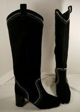 NEW FREE PEOPLE JEFFREY CAMPBELL LOLITA BLACK SUEDE STUDDED BOOTS WOMEN'S US 7.5