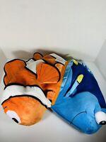 Disney Parks Flips Nemo Dory Reversible Plush Toy Pillow Large