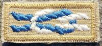 BSA Silver Beaver Award Square Knot on Tan - Mint - Boy Scouts of America