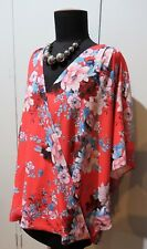 *NEW Size 16 Katies Red Floral Polyester Top- 68cm Bust