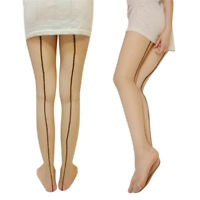 Sexy femmes transparent zine dos couture collant collant  GL