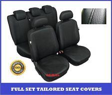 Black Eco Leather Tailored Full Set Seat Covers VW Passat B6,  B7 2005 - 2015