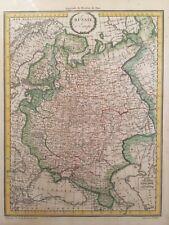 1812 LAPIE RUSSIE d'EUROPE (EUROPEAN RUSSIA) MAP UKRAINE FINLAND ESTONIA POLAND