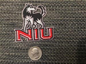 "NIU Northern Illinois university Huskies vintage iron on embroidered patch 2.5"""