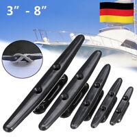 Klampe Kunststoff schwarz Bootsklampe Boot Segeln Bootszubehör 4-8 Zoll