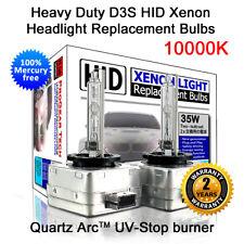 10000K Heavy Duty D3S D3R OEM HID Headlight Replacement Bulbs (Pack of 2 Bulbs)
