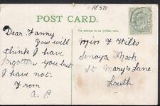 Genealogy Postcard - Wilks - Senoya Nook, St Mary's Lane, Louth  RF520