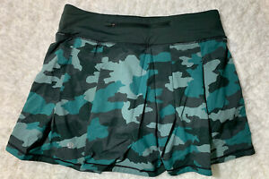 Lululemon Sz 6 Tall NWT Pace Rival Skirt - Heritage 365 Camo Tidewater Teal