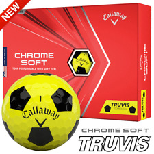 CALLAWAY 2020 CHROME SOFT TRUVIS YELLOW & BLACK GOLF BALLS / DOZEN DEALS !!!!