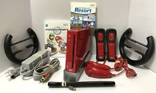 Nintendo Wii Limited Edition Red Console Bundle-Mario Kart + MORE - SHIPS FREE!!