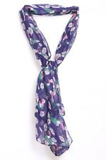 Royal Blue Pink Green & White Rio The Parrot In the Jungle Print Scarf (S159)
