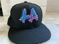 NEW ERA LA HAT CLUB ( LOS ANGELES LAKERS DODGERS ?) Fitted Hat 7 5/8 - Neon 80s