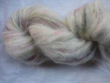 100gm Brushed Mohair Designer Hand-dyed Yarn  Cream Pink Yellow Grey Knit 200m
