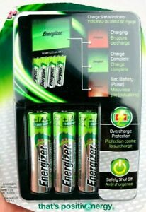 Energizer NiMH Rechargeable AA and AAA Battery Charger CHVCMWB-4 Unused  *FC