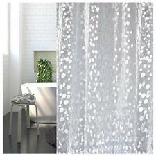 Shower Curtain 100% PEVA Waterproof and Mildew Resistant Semi-Transparent