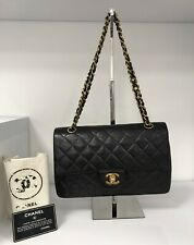 Chanel Vintage Black Classic Double Flap Bag