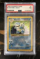 1999 Pokemon Blastoise Holo (2/102) Near Mint 7 PSA Graded
