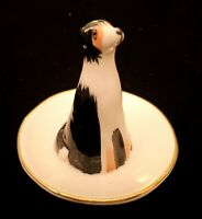 New Anthropologie Collie Dohwaji Dapper Dog Ring Holder Trinket Dish 3""