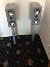 Monitor Audio Studio Loudspeakers (Pair) and Stands. Silver.