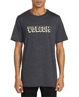 Volcom Mens T-Shirt Black Size Large L Crewneck Logo Graphic Tee $26 #421