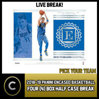 2018-19 PANINI ENCASED BASKETBALL 4 BOX HALF CASE BREAK #B187 - PICK YOUR TEAM -