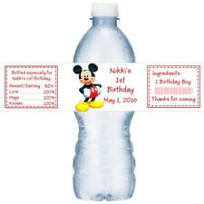 21 Mickey Mouse Birthday Party Water Bottle Labels
