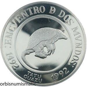 ARGENTINA 25 PESO 1994 ARMADILLO ENDANGERED WILDLIFE SILVER PROOF IBERO AM. Z551