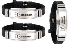 Medical Alert Bracelet Coumadin Heart Disease Warfarin Stainless Steel UK Seller