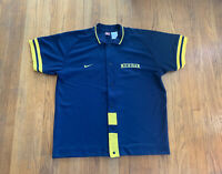 Michigan Wolverines Vintage 90's Basketball Warmup Mens XXL NCAAB Rare