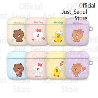 Official Line Friends Mini Brown&Friends Airpods Case Cover+Keyring+Tracking