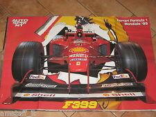 # POSTER FERRARI F399 FORMULA 1 F1 MONDIALE 1999 CM.80X54 AB15