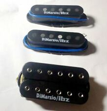 HSS Ibanez Prestige Guitar Dimarzio/IBZ USA Black Humbucker & Single Pickup set