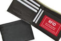 RFID Blocking Men's Leather Bifold Wallet ID Credit Card Thin Slim Front Pocket