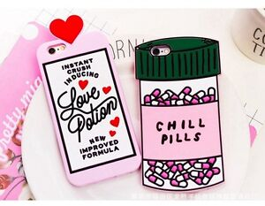 3D Cartoon Chill Pill Phone Case Cover For IPhone 12 11 Pro Max X XR 6 7 8 Plus
