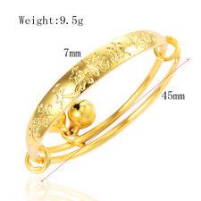 Cute Child girls baby Bell bracelet toddler boy gold Filled bangle Adjustable