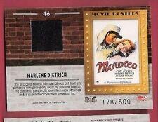 MARLENE DIETRICH WORN RELIC SWATCH CARD #d500 2009 MOVIE POSTERS MOROCCO HEPBURN