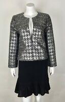 J.Crew Collection Women's Metallic Houndstooth Phoebe Jacket NWT $250 Sz 6