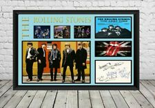 More details for rolling stones signed photo print poster autographed memorabilia