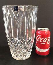 "Handcut 24% Lead Cut Crystal 9"" Vase By Crystal Clear Industries w Label Poland"