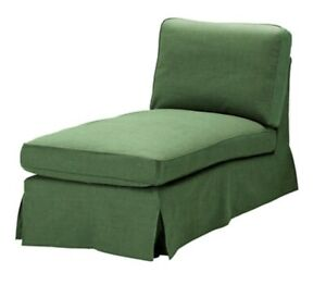 IKEA Ektorp Chaise Slipcover Svanby Green Free Standing Chaise Cover
