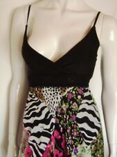 @ Jennifer Taylor @ Kleid Babydoll schwarz-weiß Blumen Size M Gr 38 GB 12 US 10