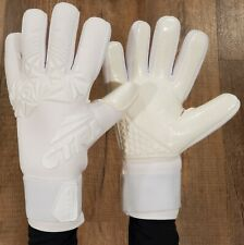 CTRL PRO Contact Foam Negative Cut Soccer Goalkeeper Goalie Gloves White 9