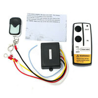 CARCHET Wireless Remote Control Winch Kit for Truck Jeep ATV Car 15M//50ft DC12V