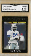 1992 CARTWRIGHT EMMITT SMITH #1 PLAYERS CHOICE GMA 8.5 NM-MT+